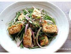 두부 부추무침~ 건강한 부추샐러드 - tofu salad