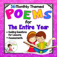 Study a poem each week with this Poetry Bundle that includes Teaching Tips and…