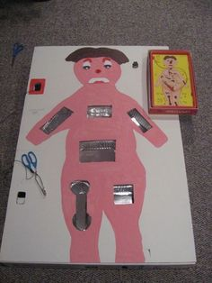 Giant Game of Operation - The only thing I would want to do for middle school is make the organs more realistic. Isn't this awesome?