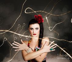Abstract photo of a beautiful girl in retro fashion style, evening glamour by Ryan Jorgensen