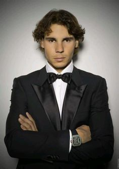 Rafael Nadal  his Richard Mille watch.