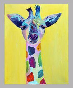 Loving this Jenn Seeley Steve Giraffe Wall Art on #zulily! #zulilyfinds