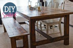DIY farmhouse table !