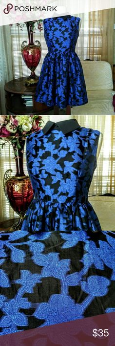 "Ducks in a row blue floral dress No signs of wear.  It is 34"" long mea on the mannequin.                        e Modcloth Dresses"