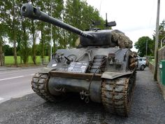 Various allied tanks on display, including the  Sherman Fury.