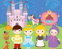 50% OFF SALE Cinderella Fairytale Princess by Alefclipart