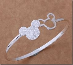 Disney Discovery- Sterling Silver Mickey Bangle