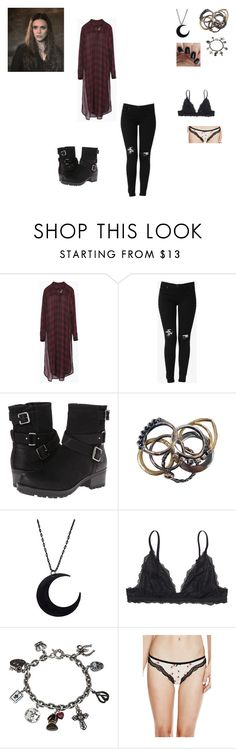 """""""Wanda's outfit #4"""" by a-vengered ❤ liked on Polyvore featuring Zara, Hudson Jeans, White Mountain, Iosselliani, Monki, Sweet Romance, GUESS and LetMeBeYourHero"""