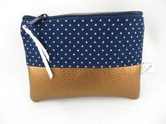 Taschenorganizer - mini Täschchen/Etui white Dots - ein Designerstück von prettybyreni bei DaWanda