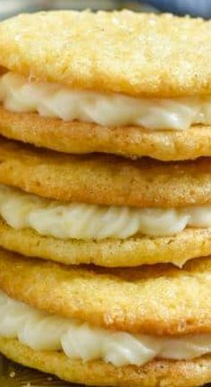 Lemon Cream Sandwich Cookies