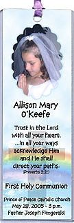 Photo Communion Bookmarks - Great idea for keepsake favors for 1st communion party!  More first communion bookmarks at   http://www.photo-party-favors.com/communion-bookmarks.html
