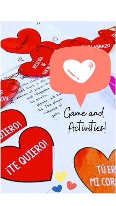 Spanish Worksheets, Spanish Activities, Elementary Spanish, Teaching Spanish, Spanish Language, Valentine Decorations, Say Hello, Languages, Journaling
