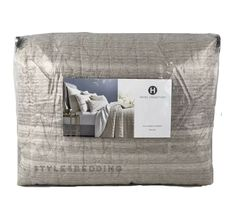 Hotel Collection Honeycomb Stripe Oatmeal Full / Queen Coverlet $335 #HotelCollection #Contemporary H Hotel, Hotel Collection Bedding, Stripes Design, Honeycomb, Oatmeal, Handmade Items, Queen, Contemporary, Pattern