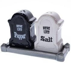 Stoneware Tombstone Salt and Pepper Shaker Set | Collections | Halloween - Cracker Barrel Old Country Store