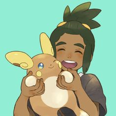 Hau with his Raichu