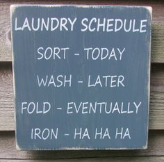 This Primitive , rustic, country sign,Laundry sign, is made of wood, and hand…