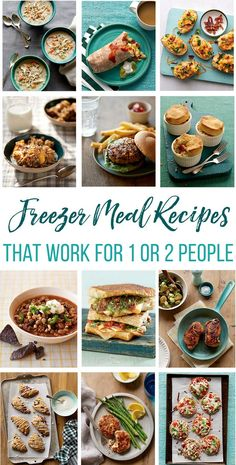 """A common question about freezer cooking is, """"What are some easy freezer meals for 1 or 2 people?"""" In this post we will walk you through how to freeze meals in small portions AND a great list of freezer meal recipes that work for 1 or 2 people. Freezer Friendly Meals, Budget Freezer Meals, Make Ahead Freezer Meals, Cooking On A Budget, Freezer Cooking, Cooking Tips, Cooking Recipes, Healthy Recipes, Freezer Recipes"""