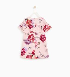 Image 5 of FLORAL PRINT DRESS WITH RUFFLED SLEEVES from Zara