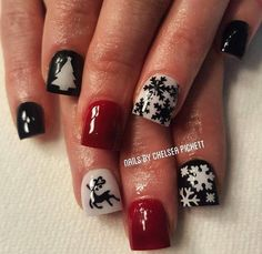 Black Snowflakes Small Nail Decals Includes: 89 Small Snowflakes Create beautiful Winter and Holiday Nails with these detailed snowflake nail decals. Christmas Nail Designs, Christmas Nail Art, Holiday Nails, Christmas Snowflakes, Snowflakes Art, Christmas Design, Design Shop, Nail Art Diy, Diy Nails
