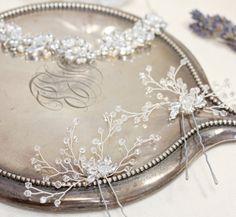 Delicate Crystal and Rhinestone Wedding by VirginiaGeigerJewels