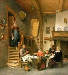 A Family Saying Grace by Jan Havicksz. Steen