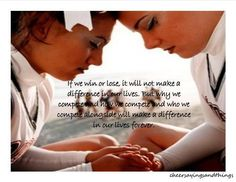 why we compete and who we compete with makes a difference in our lives forever