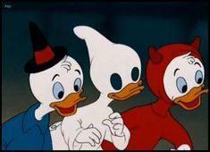 huey, dewey and louie halloween.  Trick or treat. Trick or treat. Trick or treat for Halloween!  When ghosts and goblins by the door, ring the bell on your front door.  You better not be stingy or your nightmares will come true!  :)