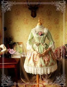 Magic Tea Party Spring of Europa Lolita OP Dress
