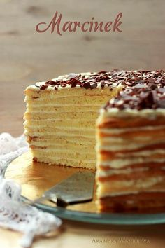 Marcinek - The greatest dessert of all time. Great Desserts, Delicious Desserts, Cake Recipes, Dessert Recipes, Polish Recipes, Polish Food, I Want To Eat, Food Photography, Cheesecake