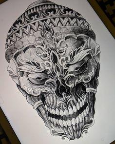 Japan Tattoo Design, Buddha Tattoo Design, Buddha Tattoos, Tattoo Design Drawings, Tattoo Designs, Buddhist Symbol Tattoos, Hindu Tattoos, Evolution Tattoo, Mask Tattoo
