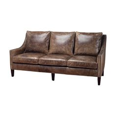 Martha Stewart Collection Bradyn Leather Sofa D Shops