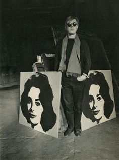 """""""Andy Warhol with Liz"""", 1964. Photographed by Evelyn Hofer."""