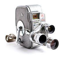 Vintage Keystone Movie Camera - K-27 Capri Triple Turret 8MM Camera / 1950s Cinema. $80.00, via Etsy.