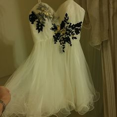 Prom/Pageant Dress Beautiful black and white Prom Dress Worn only once. Dresses Mini