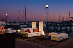 We recommend bringing the indoors outside for a starlit reception on the water at The Ritz-Carlton, Marina del Rey.