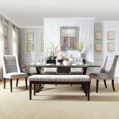 Trumbull Stainless Steel and Grey 6-piece Dining Set by SIGNAL HILLS