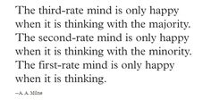 A.A. Milne on thinking.