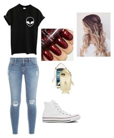 """""""Alien"""" by peters-k on Polyvore featuring Frame Denim, Converse and STELLA McCARTNEY"""