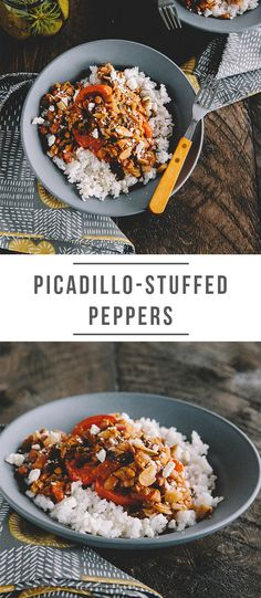The meal kit for eating well Stuffed Peppers With Rice, Stuffed Poblano Peppers, Delicious Recipes, Tasty, Yummy Food, Gluten Free Recipes, Vegan Recipes, Green Chef, Cotija Cheese