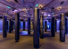 Studio wants to make going to the gym feel like a night out, so fitted out this London basement with neon lighting, black walls and a pop-up bar Fitness Design, Gym Design, Retail Design, Studio Design, Luxury Gym, Coaching, Gym Interior, Interior Design, Basement Gym
