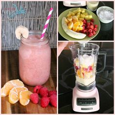 Energy Boost Fruit Smoothie Recipe @SoberJulie.com #smoothie #smoothierecipe