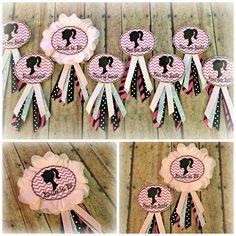 """""""Move Over Barbie"""" themed Bachelorette Party Badges - Custom Order : elliekatt.etsy.com"""