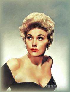 Hollywood Cinema, Hollywood Icons, Classic Hollywood, Vintage Movie Stars, Vintage Movies, Kim Novak, Elizabeth Montgomery, Star Painting, Superstar