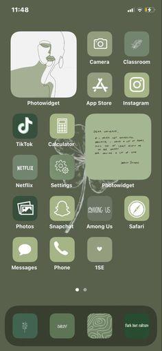 IOS 14 Sage Green Wallpaper Idea