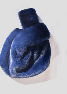 Poppy Shopper Bag in blue cobalt faux fur by Brie Leon at Dead Pretty afa6242094058