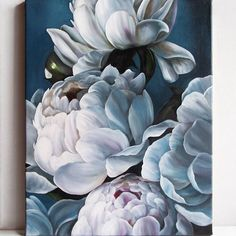 Fabric Painting, Painting & Drawing, Watercolor Paintings, Watercolor Flowers, Easy Flower Painting, Flower Art, Silk Art, Painting Gallery, Large Art
