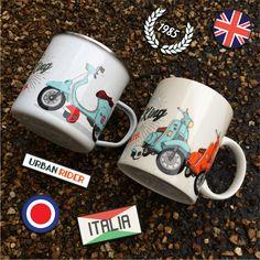 Tazas originales para regalar a amantes de las scooter. El complemento perfecto junto con un buen casco. #tazas #motos #scooter #regalos
