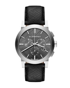 Beat Check Chronograph Watch, Men's, gray - Burberry