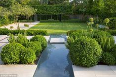 contemporary garden design ideas for small gardens Vegetable Garden Design, Small Garden Design, Garden Landscape Design, Garden Landscaping, Formal Garden Design, Landscape Architecture, Landscaping Ideas, Contemporary Water Feature, Contemporary Garden Design