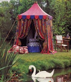 I want one of these Cabanas to hide from the sun and the world to read and peace and quiet and dream ~